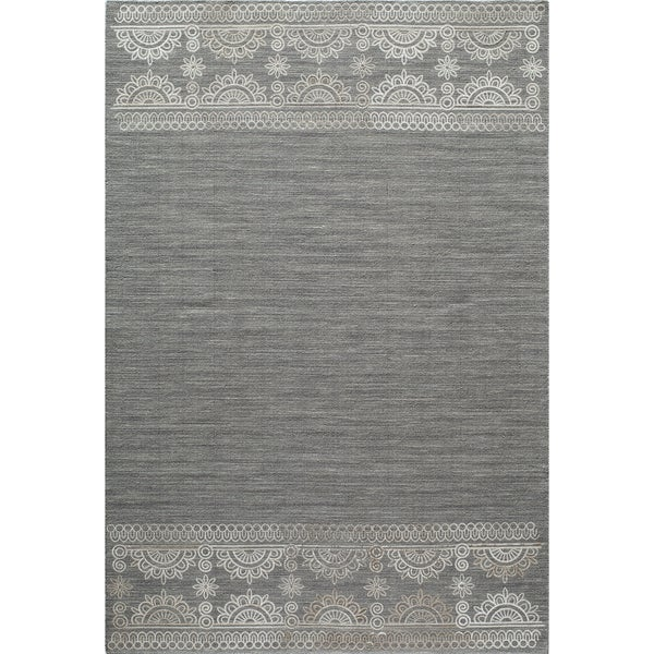 Momeni Lace Embroided Hand-Woven Wool Blend Rug (8' X 10')