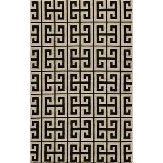 Mersa Links Reversible Flat Weave Wool Dhurrie Area Rug (8' x 10')