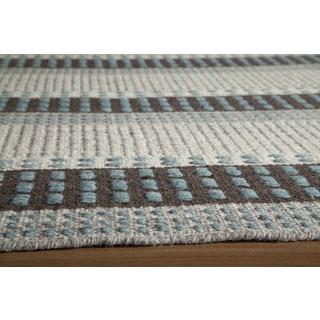 Momeni Mesa Blue Hand-Woven Wool Reversible Rug (8' X 10')