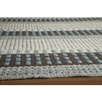 Momeni Mesa Blue Hand-Woven Wool Reversible Rug (8' X 10') - 8' x 10'