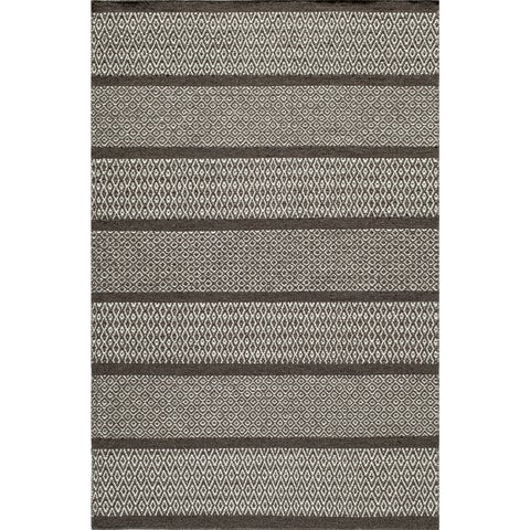 Momeni Mesa Beige Hand-Woven Wool Reversible Rug (8' x 10') - 8' x 10'