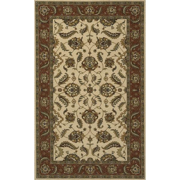 Momeni Persian Garden Ivory NZ Wool Rug (8' X 10') - 8' x 10'