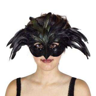 Black Raven Feather Mask