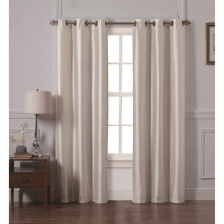 VCNY Preston Faux Silk 84-inch Curtain Panel Pair