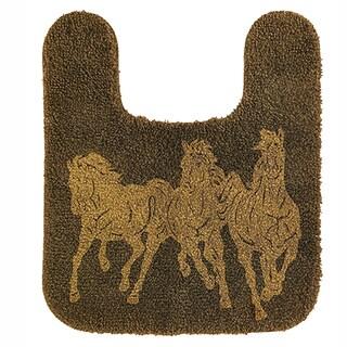 HiEnd Accents Contour Horse Dark Tan Acrylic Bath Rug