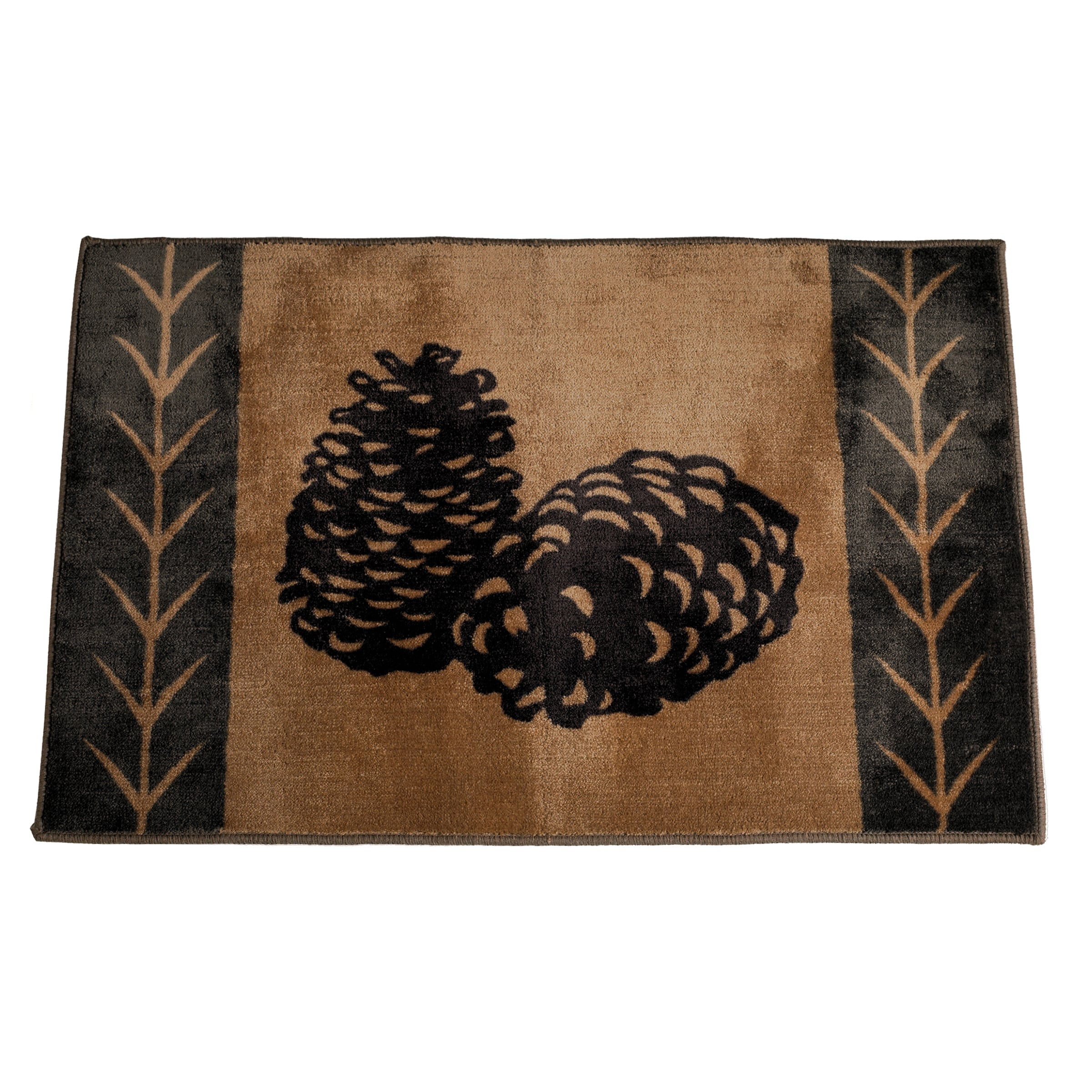 HiEnd Accents Pine Cone Acrylic Rug (2' x 3') (24x36 Rug)...