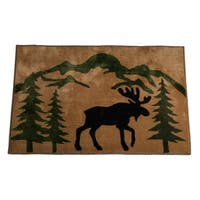 HiEnd Accents Moose Print Acrylic Rug (2' x 3') - 2' x 3'