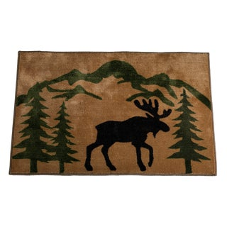 HiEnd Accents Moose Print Acrylic Rug (2' x 3') - 2' x 3'