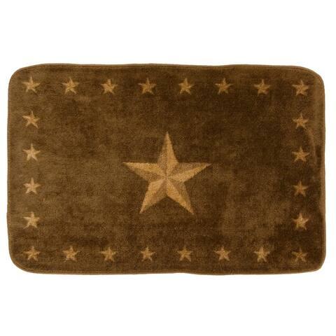 HiEnd Accents Star Dark Chocolate Acrylic Bath Rug (2' x 3') - 2' x 3' - 2' x 3'