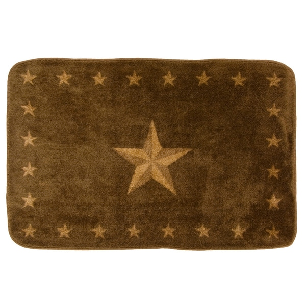 HiEnd Accents Star Dark Chocolate Acrylic Bath Rug (2' x 3') - 2' x 3'