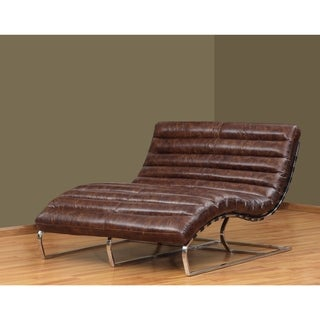 Cleo black leather chaise free shipping today for Bella flora double chaise lounge