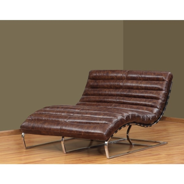 Perici double leather chaise free shipping today for Abbyson living soho cream fabric chaise