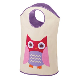 Whitmor 6241-5810-OWL Kids Canvas Owl Hamper Tote