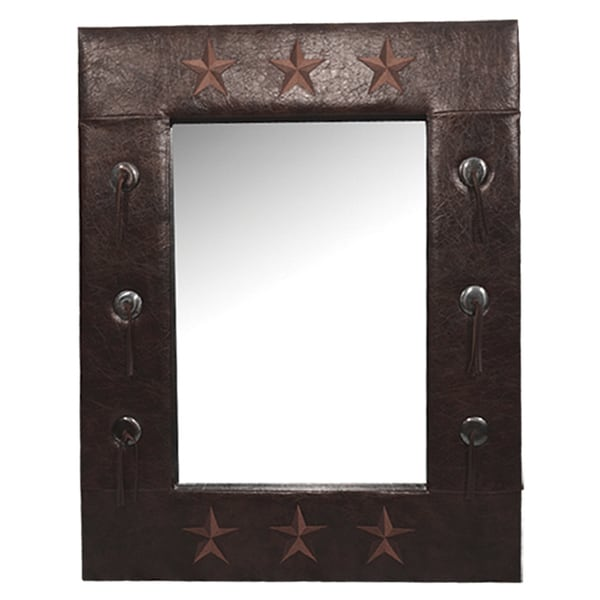 Shop Hiend Accents Star Faux Leather Mirror Free