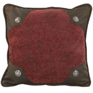 18-inch Chenille Pillow with Conchos
