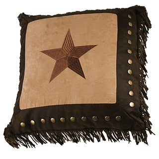 Embroidery 18-inch Star Pillow