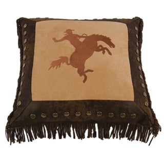 Embroidery 18-inch Bronco Pillow