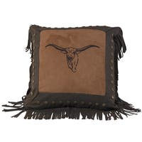 Embroidery 18-inch Steer Pillow