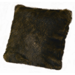 18-inch Faux Fur Brown Mink Pillow