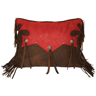 Western Yoke Pillow with Concho