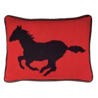 Dark Horse Knitted Pillow