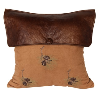 18-inch Lodge Pine Cone Pillow