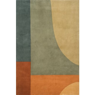 Hand-tufted Wool New Wave League Rug (9'6 x 13'6)