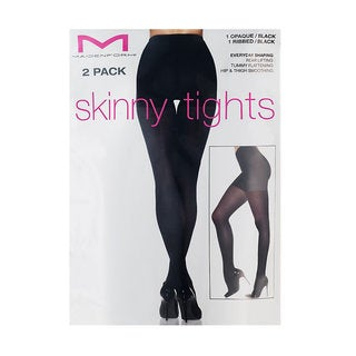 Maidenform Everyday 2-pack Opaque/ Ribbed Shaping Skinny Tights