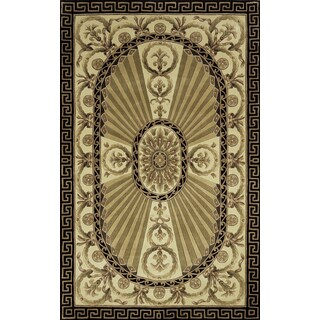 Aubusson Regal Hand-tuft Wool Area Rug (9'6 x 13'6)