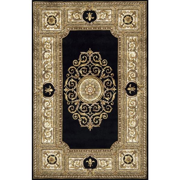 Momeni Maison Black Hand-Tufted Wool Rug (9'6 X 13'6)