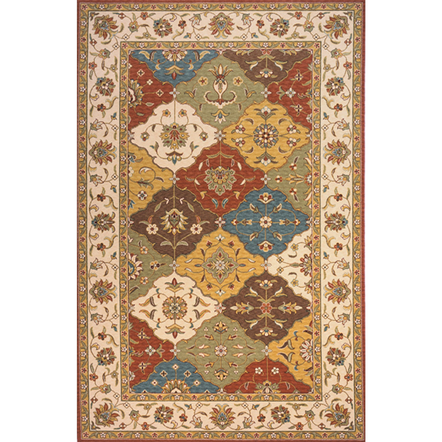 Image Is Loading Momeni Persian Garden Multicolor Nz Wool Rug 9