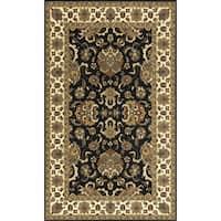 """Momeni Persian Garden Charcoal NZ Wool Rug (9'6 X 13') - 9'6"""" x 13'"""