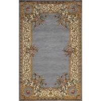 Momeni Harmony Floral Border Hand-Tufted Wool Rug (8' x 11')
