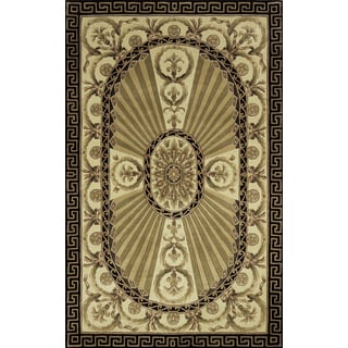 Aubusson Regal Hand-tufted Wool Rug (8' x 11')