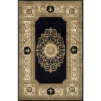 Momeni Maison Black Hand-Tufted Wool Rug (8' x 11')