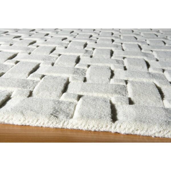 Manhattan Basketweave Wool Rug 8 X 11 Free Shipping