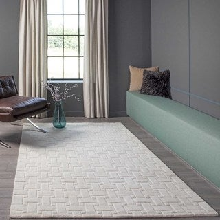 Manhattan Basketweave Wool Rug (8' x 11')