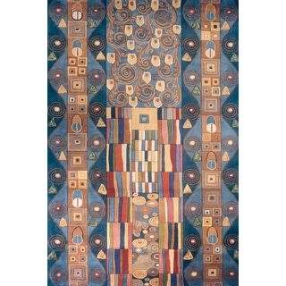 New Wave Festival Hand-tufted Wool Rug (8' x 11')