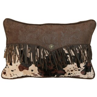 Caldwell Cowhide Fringed Pillow