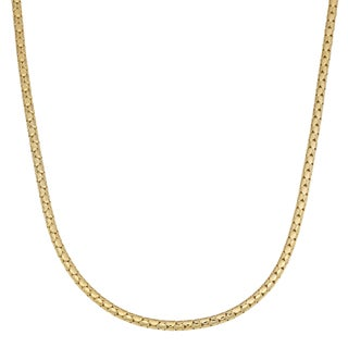 Fremada 14k Yellow Gold over Sterling Silver 2.15mm High Polish Popcorn Necklace