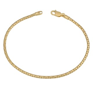 Fremada 14k Yellow Gold over Sterling Silver 2.15mm High Polish Popcorn Bracelet