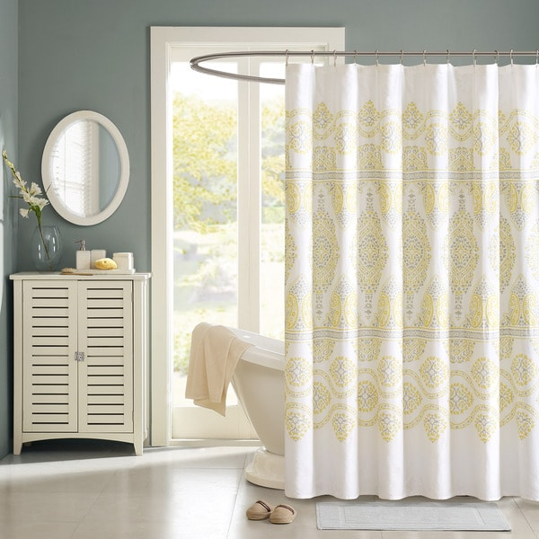 Shop madison park jalisco cotton shower curtain free - Madison park bathroom accessories ...