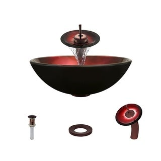 Mr Direct 607 Oil Rubbed Bronze Bathroom Sink and Faucet Ensemble