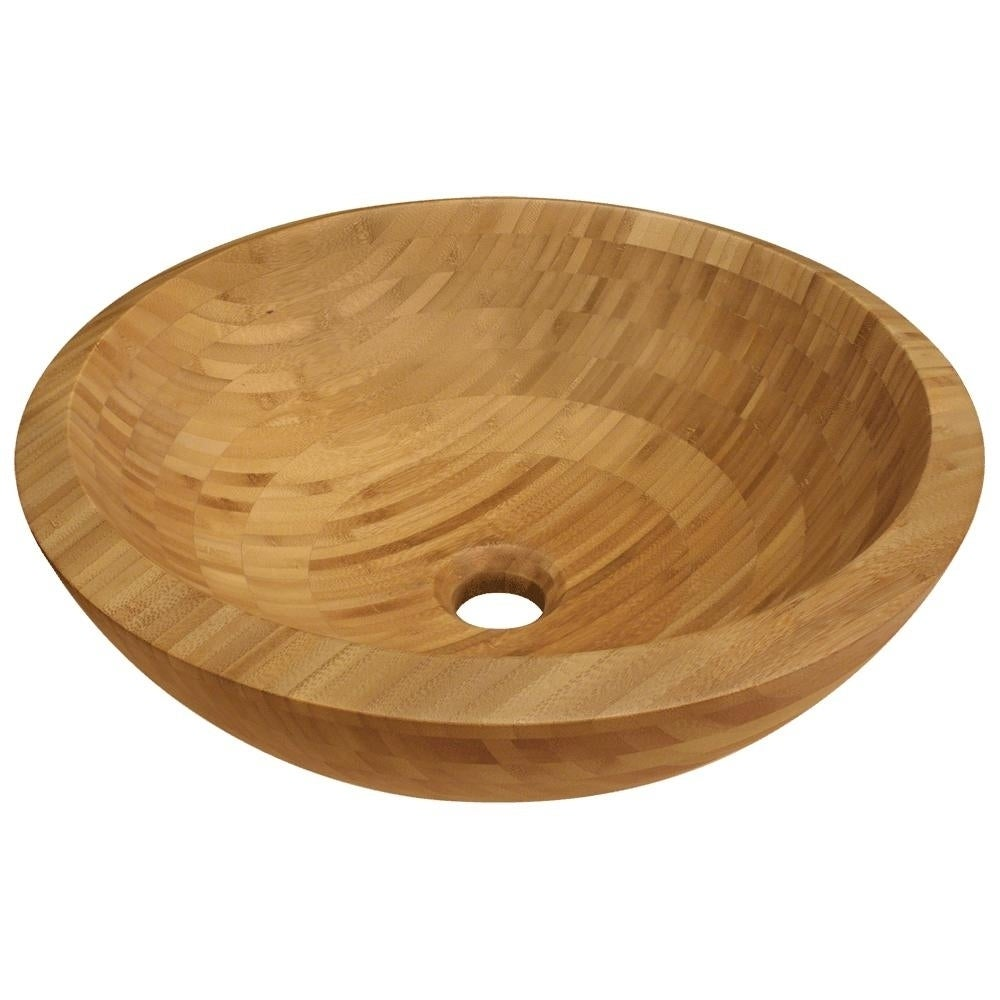 MR Direct 890 Bamboo Vessel Bathroom Sink, Brushed Nickel...