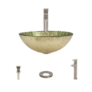 Mr Direct 623 Brushed Nickel Bathroom Sink and Faucet Ensemble