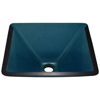 Mr Direct 603 Aqua Brushed Nickel Bathroom Sink and Faucet Ensemble