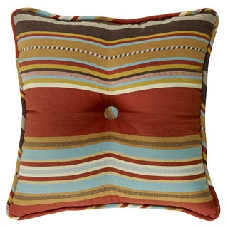 Striped 18-inch Tufted Pillow