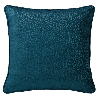 Leopard 18-inch Chenille Ruffle Pillow