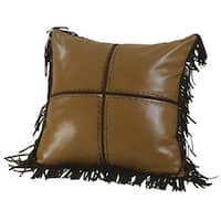 """Leopard Chenille Pillow with Cross, 18""""X18"""""""