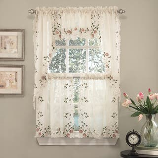 Buy Curtain Tiers Online at Overstock   Our Best Window Treatments on two tone kitchen colors, two tone kitchen cabinet ideas, two tone shaker style kitchen,